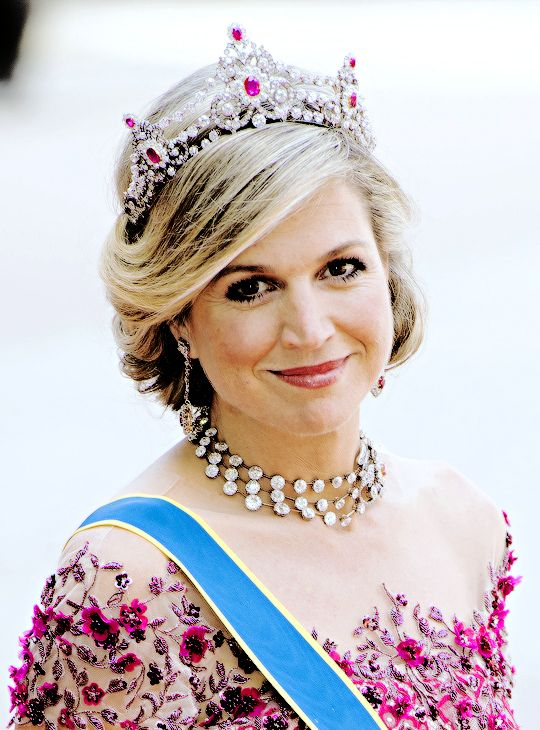 Queen Máxima of the Netherlands attended the Wedding Ceremony of Prince Carl-Philip and Sofia Hellqvist in Stockholm on 13th June, 2015.