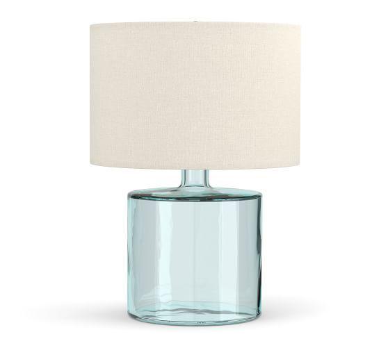 Mallorca Recycled Glass Table Lamp Potterybarn Glass Table Lamp Glass Table Table Lamp