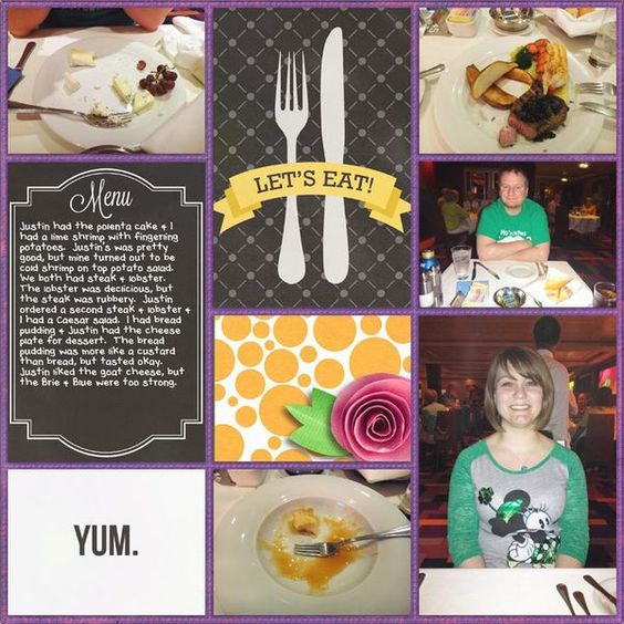 Let s eat restaurant food disney project life scrapbook