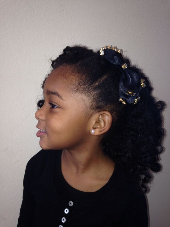 Stupendous Natural Hairstyles For Kids Kids Natural Hair And Pinup On Pinterest Hairstyle Inspiration Daily Dogsangcom