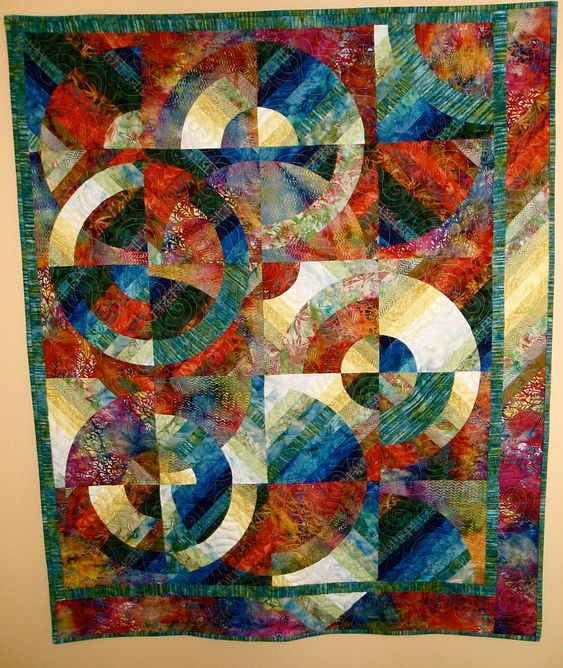 Free Circle Quilt Patterns ... with circles i ve made many patterns with drunkard s path ...