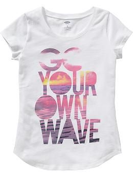 Girls Beach-Graphic Tees   Old Navy