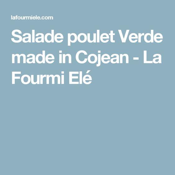Salade poulet Verde made in Cojean - La Fourmi Elé