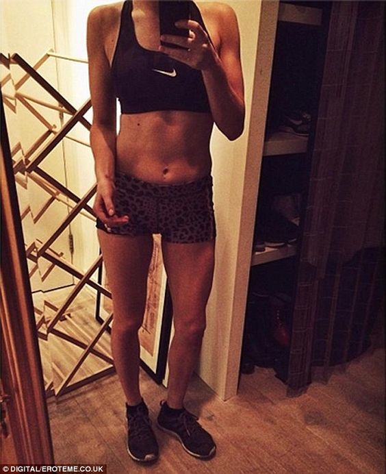Ellie Goulding.. Nike and animal print.. train and work it!