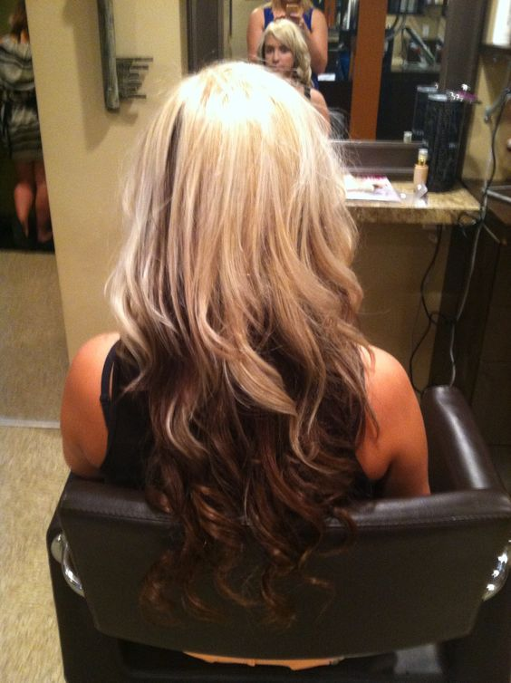 blonde with brown underneath hair stylesupdoscolors by