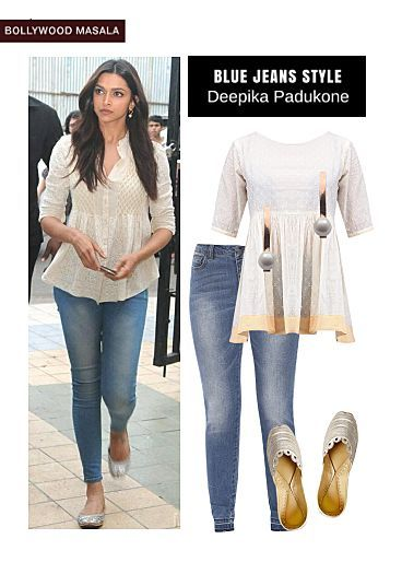 Blue Jeans, White Tops with Gold Jutis & Mojaris. Online shopping ...