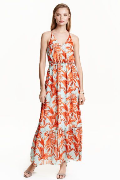 Vestido comprido em chiffon | H&M