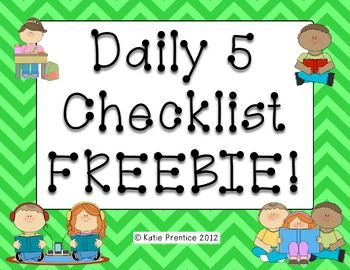 Daily 5 Checklist Freebie! I'm really curious about the Daily 5...