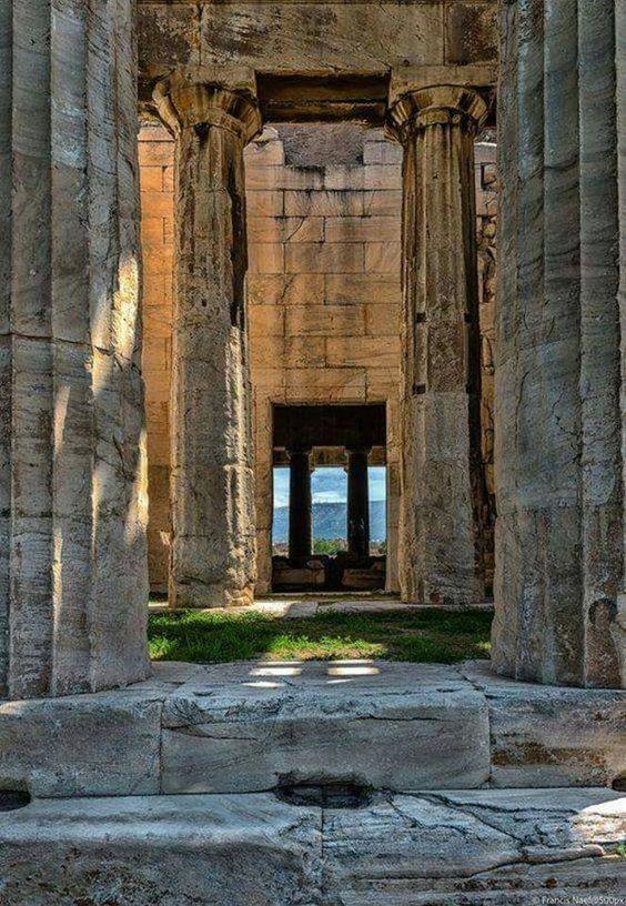 Temple Of Hephaestus Athens Greece Grece Paysage Athenes