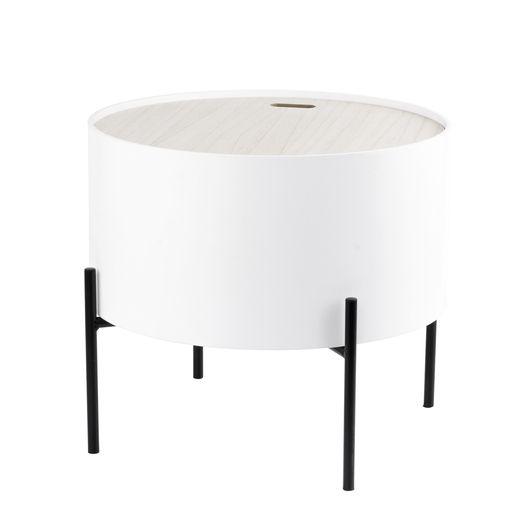 Bout De Canape Coffre 40 X 40 X H 36 Cm Blanc Bout De Canape Mobilier De Salon Et Coffre Blanc