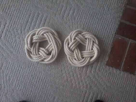 Nautical knot trivets