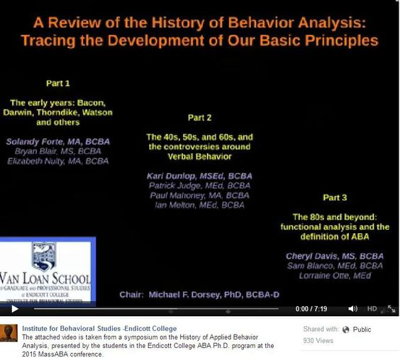 Examples of Fear Conditioning - BATS Behavioral Boot Camp 2010 - what is behavior analysis examples