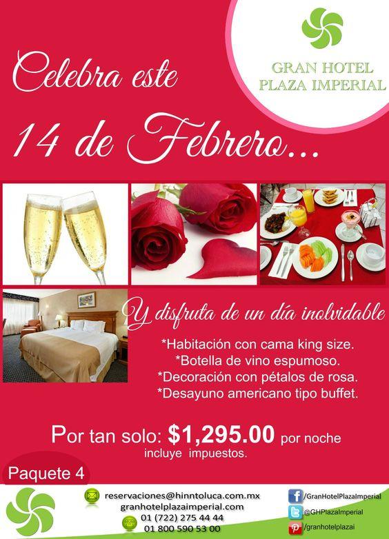 Celebra con tu pareja este #14defebrero y disfruta de nuestro Paquete no. 4