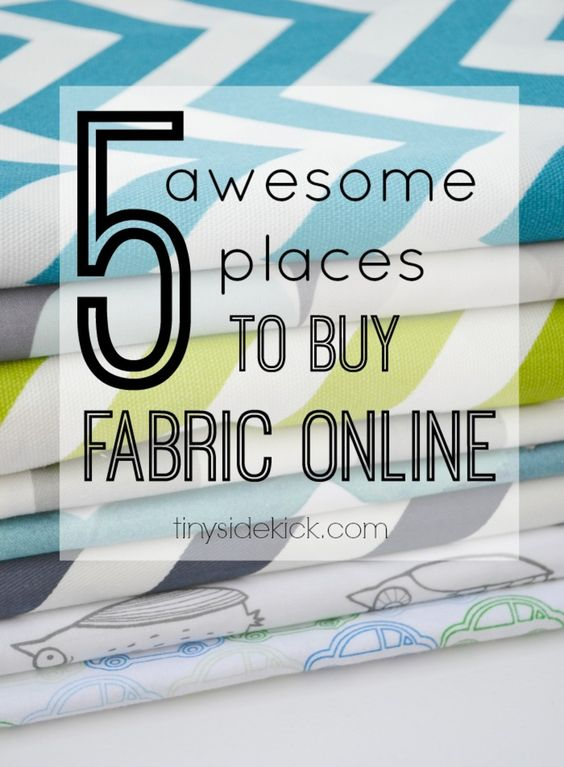 5 Awesome Places to Buy Fabric Online http://www.tinysidekick.com/best-places-to-buy-fabric-online/?utm_campaign=coscheduleutm_source=pinterestutm_medium=TinySidekick%20(DIY%20BOARDS)utm_content=5%20Awesome%20Places%20to%20Buy%20Fabric%20Online