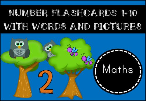 Number Flashcards for Display Purposes for EYFS/KS1
