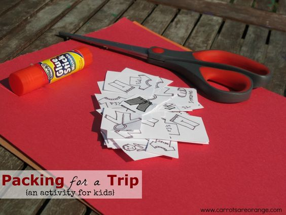 An easy and fun activity to help kids to begin thinking about how to pack for a trip. This activity will make our lives easier as the adults also participating in the trip and will give our children the confidence and independence they need to grow and develop. Self sufficiency is huge for us adults and for those spirited children of ours.