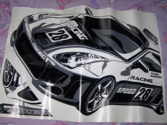 Rhttp://www.bonanza.com/listings/Race-Car-Wall-Decal-NIP-19-x-27/39052259ace Car Wall Decal NIP 19 x 27