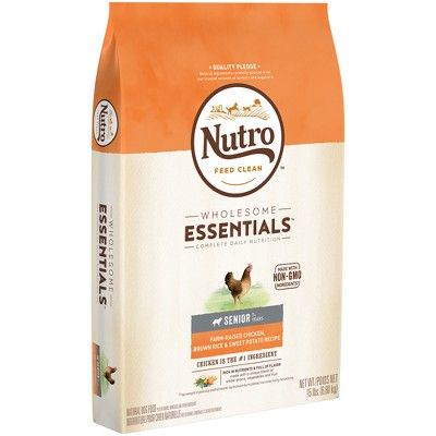 Nutro Wholesome Essentials Senior Chicken Rice Dry Dog Food