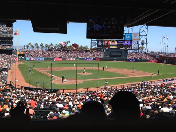SF Giants Game view from Championship Box