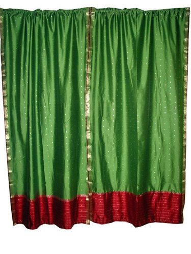 Rod Pocket Saree Curtain