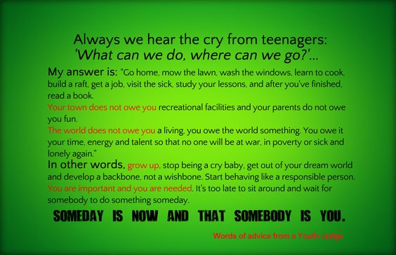 someday // an open letter to teenagers. someday is now & that somebody is you.