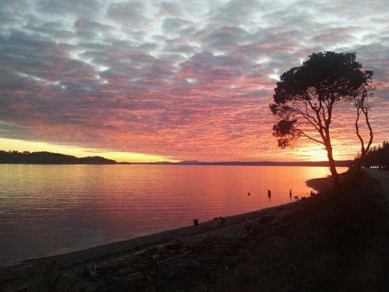 Sunset on the Purdy Spit ~ photo taken by my daughter Zarissa