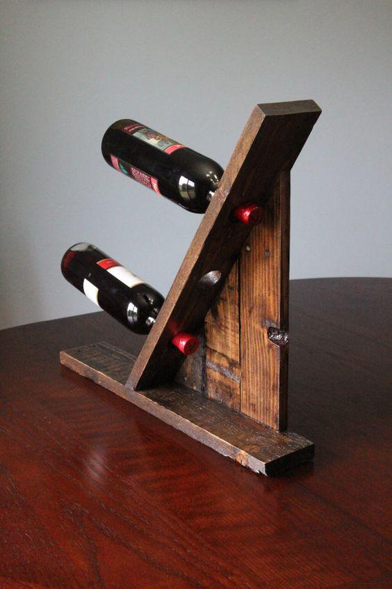 Soportes para botellas de vino estantes de vino and impresionante on pinterest - Estantes para vinos ...