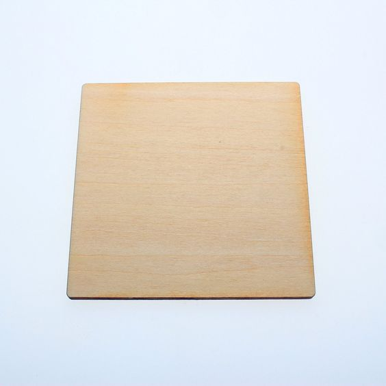 """Amazon.com: Yuhoshop: 10pcs 5"""" (wide) X 1/8"""" inch WOODEN SQUARE PLAIN UNFINISHED WOOD CRAFT FOR DISKS, TAGS, EARRINGS, WEDDING, FAMILY BIRTHDAY CALENDAR, PLAQUE, JEWELRY DIY"""