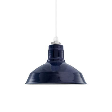 12 Porcelain Cobalt Blue Dino Shade Barn Lighting Barn Light Electric Light