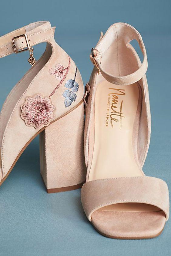 Slide View: 5: Nanette Lepore Martina Embroidered Heels