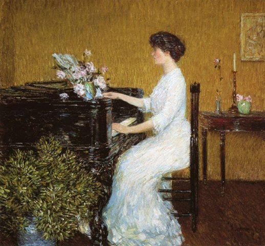 At the Piano // Frederick Childe Hassam // 1908 //