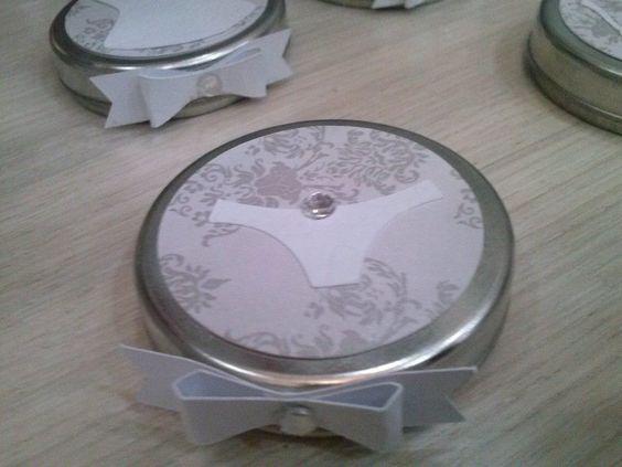 Chá de Lingerie - decoração e personalizados - LATINHAS MINT TO BE