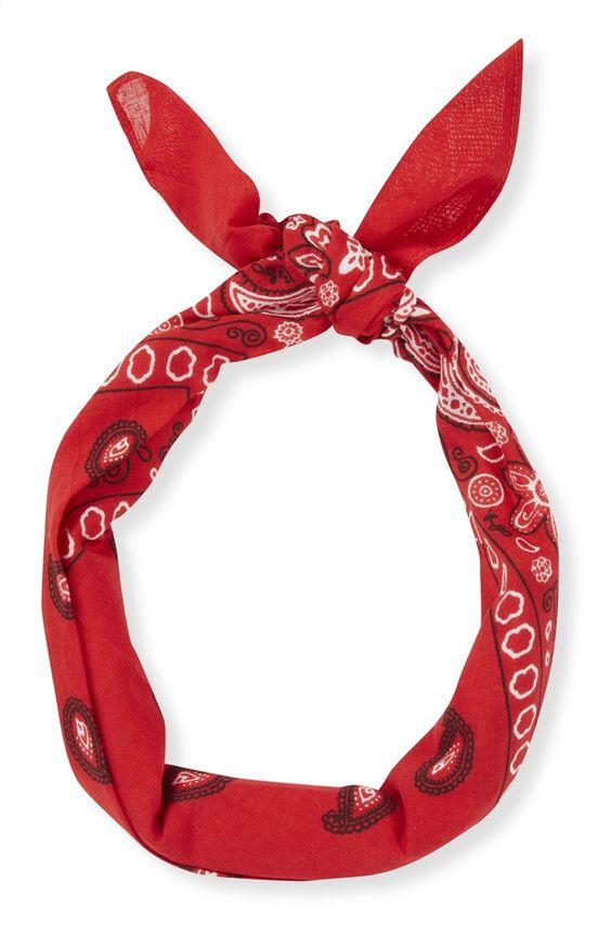 Pañuelo para el pelo con estampado de cachemira rojo: