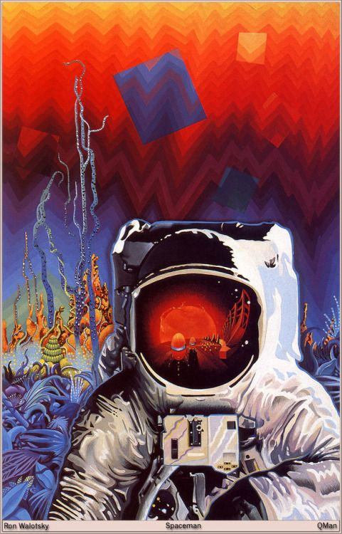 Ron Walotsky Art 70s Sci Fi Art Space Art