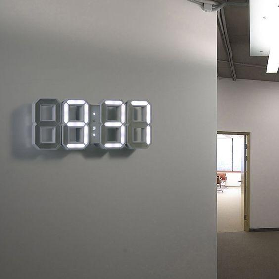 white white led clock coolgadgets home homedecor office blank wall clock frei