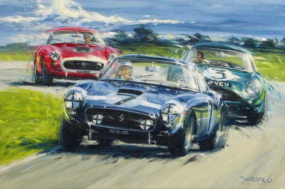 Porsche 917 Rodriquez painting by Klaus Wagger.