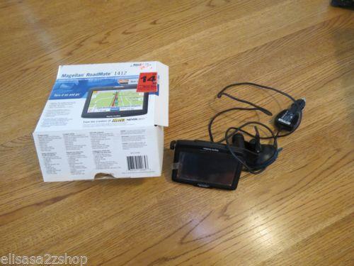 Magellan RoadMate 1412 Automotive Mountable GPS Receiver screen perfect w/ box