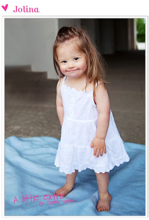 precious little girl with down syndrome
