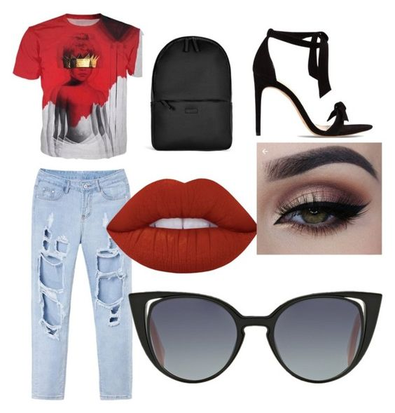 """""""ootd"""" by gldphlpobele on Polyvore featuring Alexandre Birman, Rains, Lime Crime and Fendi"""