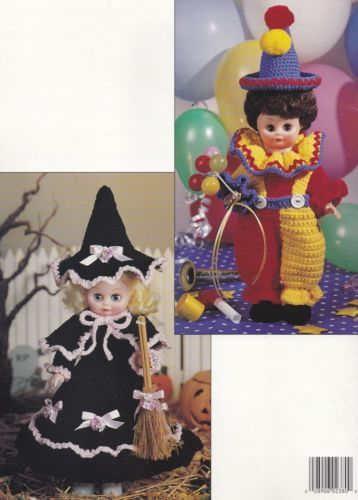 Dress-up-Dolls-Crochet-Doll-Clothes-Pattern-Booklet-LA-2380-Witch-Pirate-amp-More