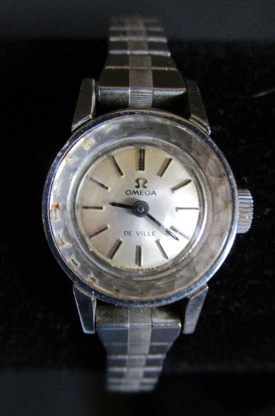 Vintage Ladies Silver Omega DeVille Watch - Not Working #Omega