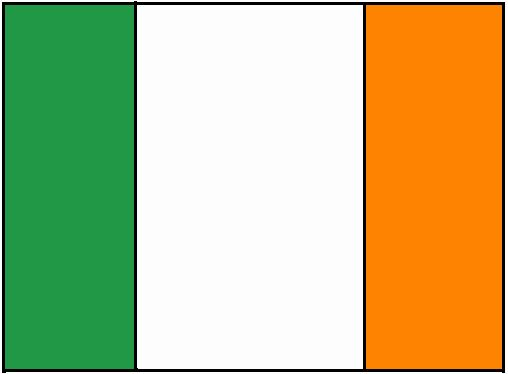 Irish Flag Coloring Page In 2020 Flag Coloring Pages Irish Flag