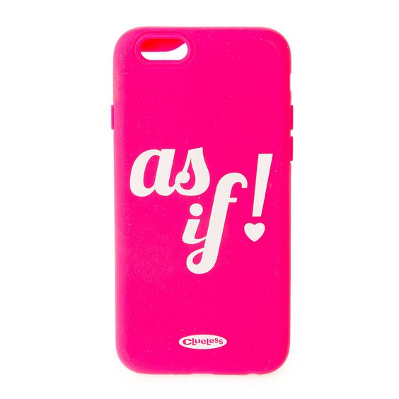 Clueless Pink As If! Silicone Cover for iPhone 6