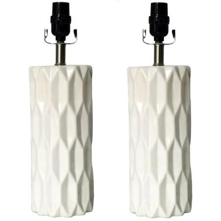 Better Homes and Gardens Gypsum Faceted Lamp Bases 2 Pack