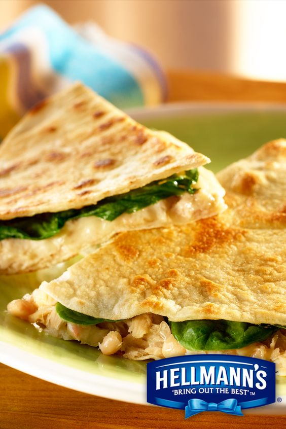 ... Tuna Quesadillas with Hellmann's Mayonnaise Dressing with Olive Oil
