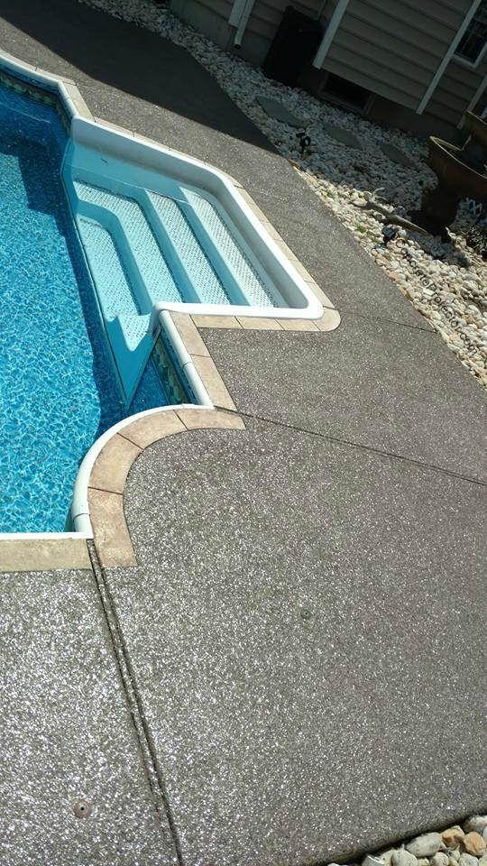 Graniflex Pool Deck Wilmington Concrete Resurfacing Arundel Md Concrete Patio Painted Pool Deck Concrete Patio Makeover