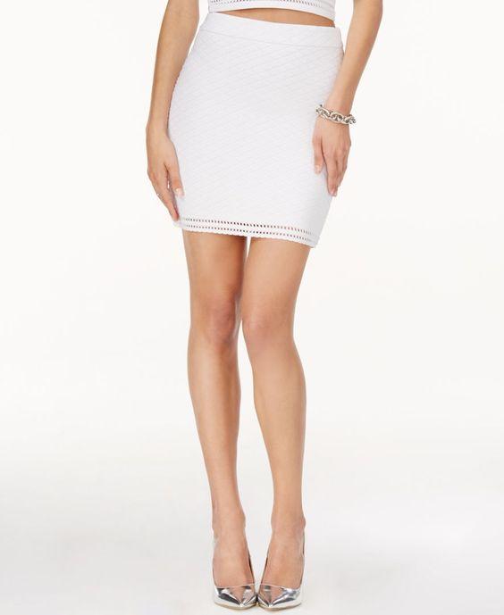 Guess Textured Mini Pencil Skirt