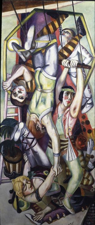 """The Trapeze"", by Max Beckmann (location: Toledo Museum of Art)"