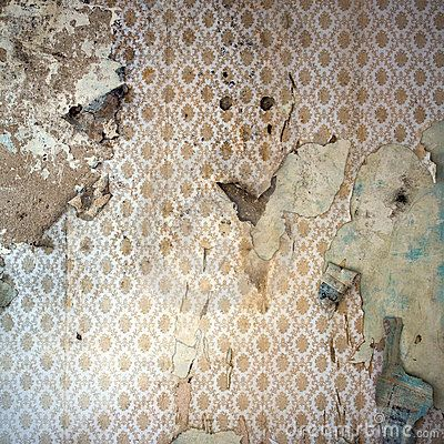Peeling Wallpaper Damaged Wal By View7 Via Dreamstime