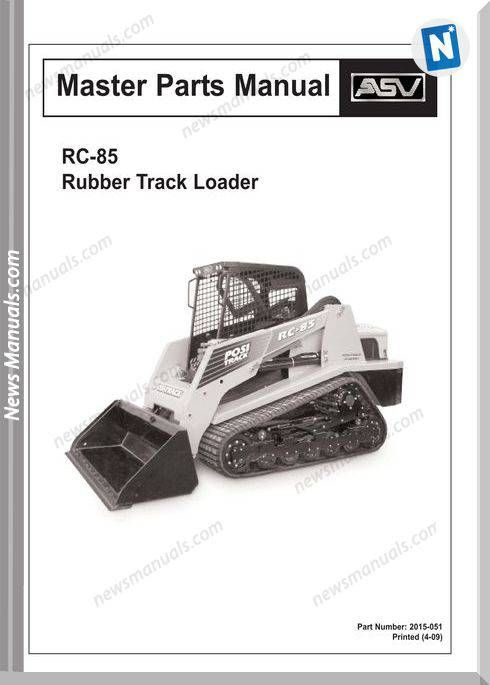 Terex Track Loaders Rc 85 Mstr Parts 4 09 Part Manual Manual Track Forklift